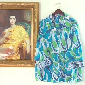 NWOT Nordstrom's Foxcroft Floral Shirt 24W
